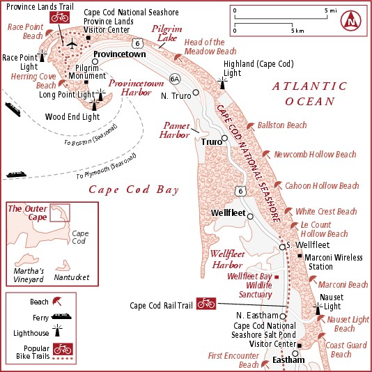 Map of The Outer Cape